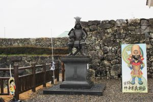 竹中半兵衛の銅像