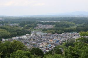 水口岡山城からの展望