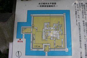 水口城の縄張り図