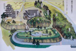 岩崎城の案内図
